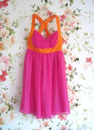 Яркое платье baby-doll из шелка lipsy3