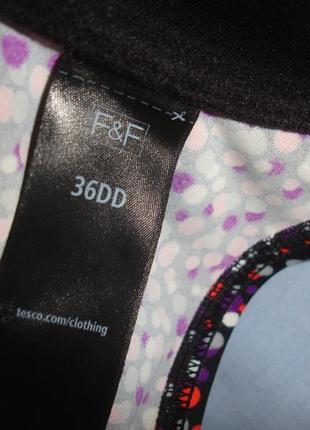 Верх от купальника раздельного топ лиф бюст чашка 80dd 80 dd 36дд черный фиолетовый дд2