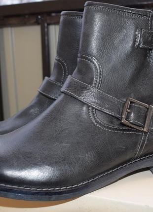 Утепленные кожаные ботинки pier one р.42 27-27,3 см германия новые2