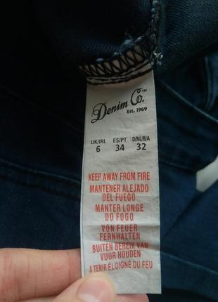 Классные джинсы skinny,джинсы с высокой посадкой,джинсы с рваними коленями,denim co4