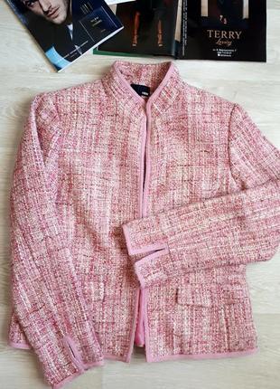 Розовый жакет h&m / теплый пиджак /2я вещь в подарок1