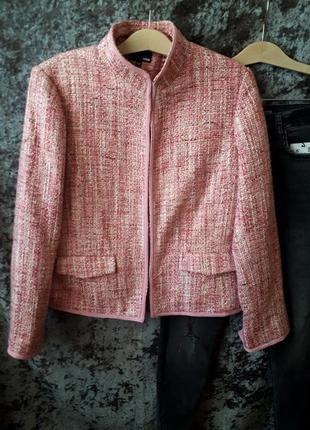 Розовый жакет h&m / теплый пиджак /2я вещь в подарок2