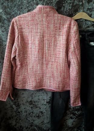 Розовый жакет h&m / теплый пиджак /2я вещь в подарок4