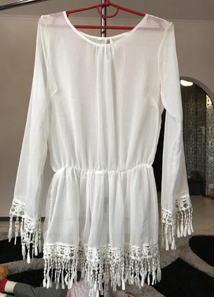 Нарядная белая блуза блузка вечерняя