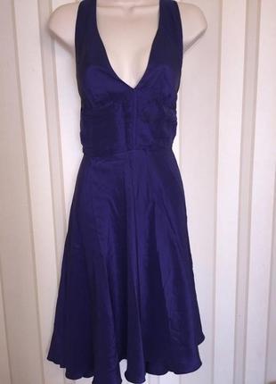 Элегантное шелковое платье от warehouse в стиле мерлин монро/ 100% шелк1
