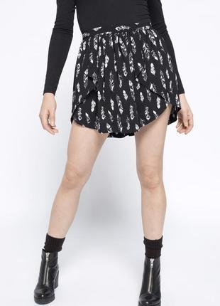Новая !юбка asos черная завышенная высокая талия