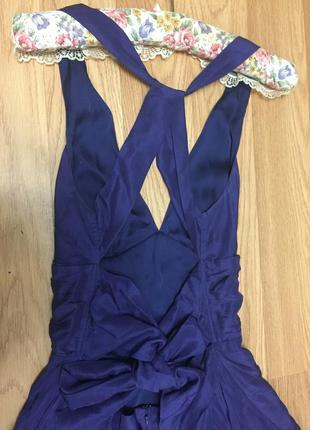 Элегантное шелковое платье от warehouse в стиле мерлин монро/ 100% шелк5