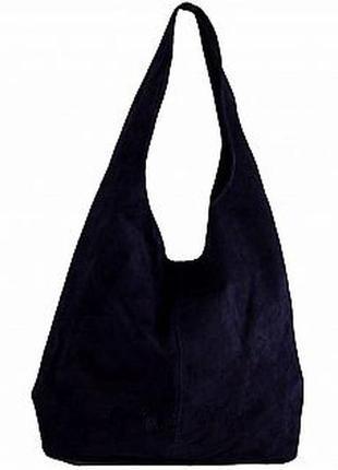 Замшевая темно-синяя сумка monica италия разные цвета1 фото