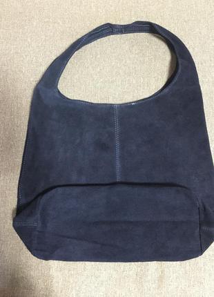 Замшевая темно-синяя сумка monica италия разные цвета4 фото