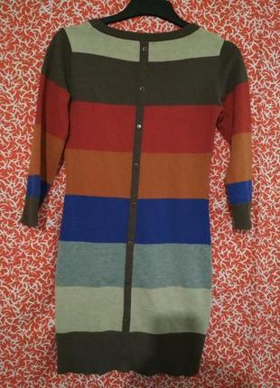 Яркое трикотажное мини платье 40рр2
