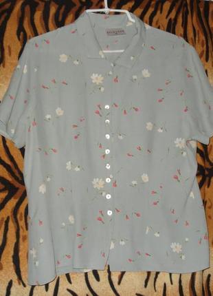 """Блуза светло-зеленого цвета""""richards""""р.16,100%вискоза,морокко.1"""