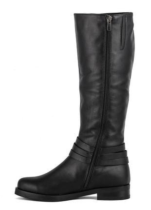 988цп женские сапоги scorpion,кожаные,на каблуке,на низком ходу,на толстом каблуке3