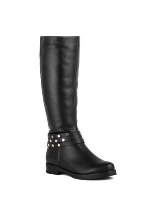 988цп женские сапоги scorpion,кожаные,на каблуке,на низком ходу,на толстом каблуке1