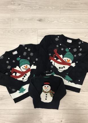 Продам новогодний family look, новогодние свитера1
