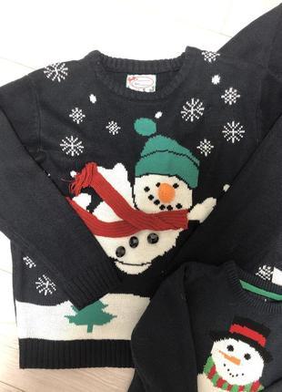 Продам новогодний family look, новогодние свитера3