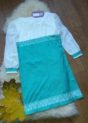 Платье с узорами с этикеткой2