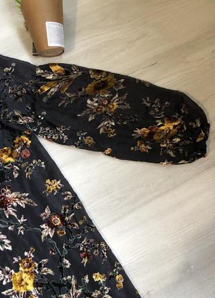 Платье с цветочным принтом ( велюр)2