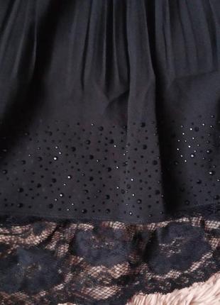Нарядная пышная юбка с кружевным подьюпником2