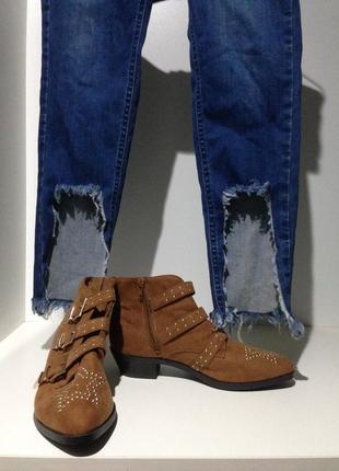 Стильные ботиночки- казаки. размер 38-39.1
