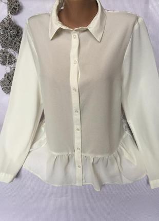 Белая блуза спинка ажур atmosphere1