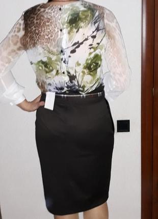 Яркая шифоновая блуза в анималистич. принт от тм мармелад2