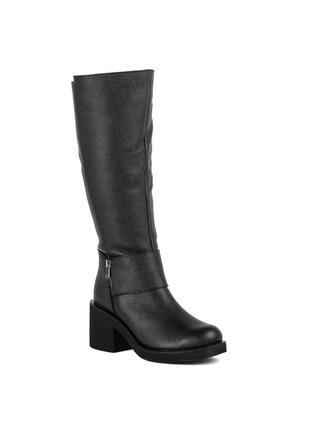 985цп женские сапоги scorpion,кожаные,на толстом каблуке,на каблуке,на низком ходу