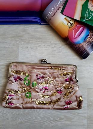 Клатч в пайетках / сумочка в пайетках