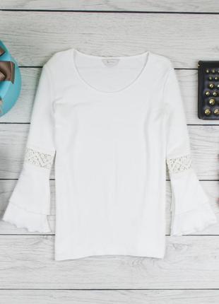 Белая  блуза кофта от tu рр 10 наш 441