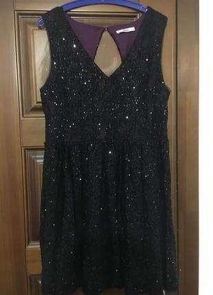 Нарядное вечернее платье oasis с пайетками1