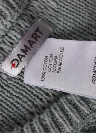 Хлопковый свитерок с кружевной отделкой на груди.4