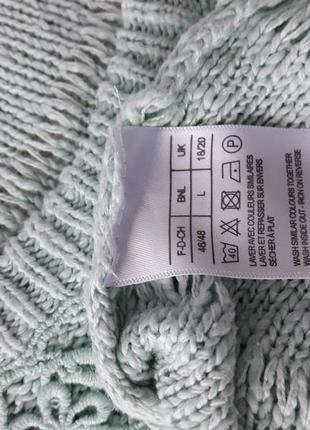 Хлопковый свитерок с кружевной отделкой на груди.5