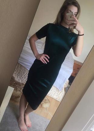 Шикарное бархатное платье миди от zara4