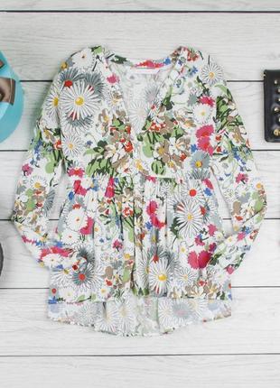 Цветная вискозная блуза от zara рр s1
