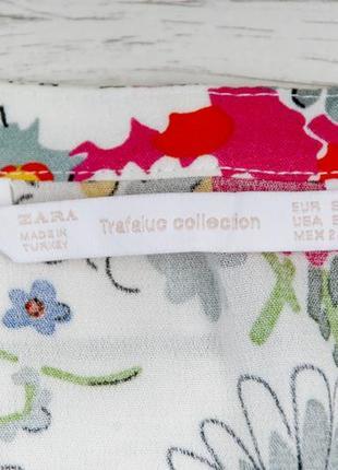 Цветная вискозная блуза от zara рр s4
