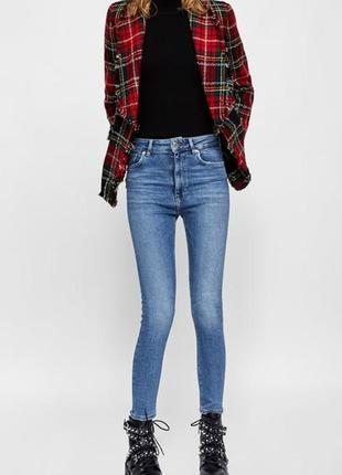 🌿 синие базовые джинсы скинни zara5