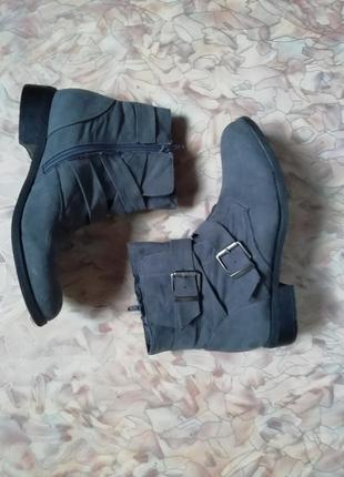 Серые низкие ботинки демисезон4