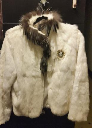 Шуба полушубок куртка кролик