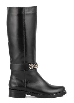 982цп женские сапоги marko rossi,кожаные,на толстом каблуке,на каблуке,на низком ходу2
