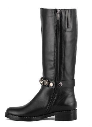 982цп женские сапоги marko rossi,кожаные,на толстом каблуке,на каблуке,на низком ходу3