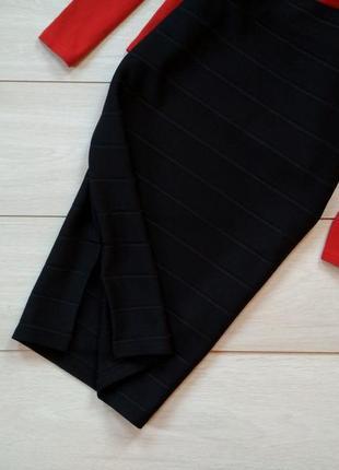 Черная юбка миди2