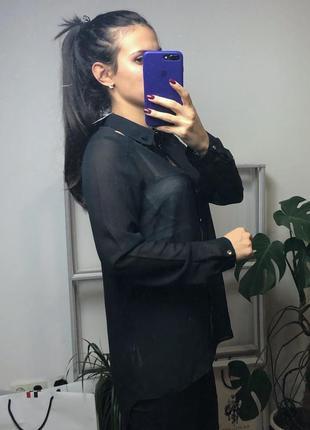 Отличная шифоновая рубашка от h&m2