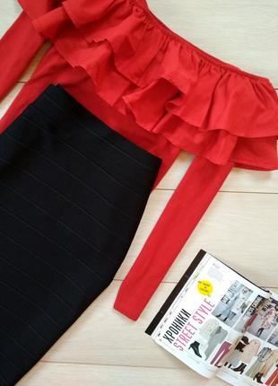 Черная юбка миди3