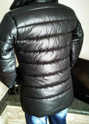 Зимняя черная куртка на 46 размер ручная работа2