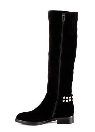 980цп женские сапоги attico,замшевые,на толстом каблуке,на каблуке,на низком ходу3
