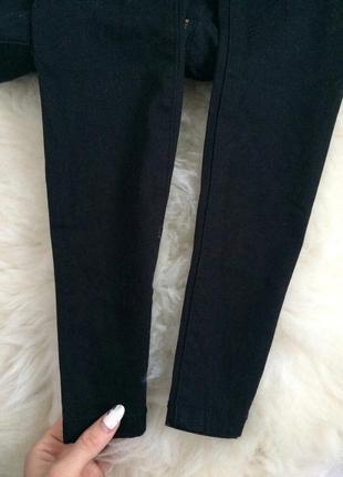Чёрные скинни джинсы высокая посадка завышенная талия5