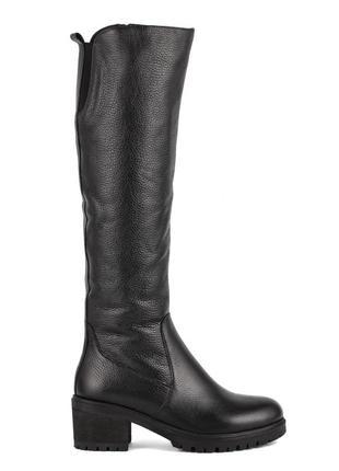 979цп женские сапоги attico,кожаные,на толстом каблуке,на каблуке,на низком ходу2