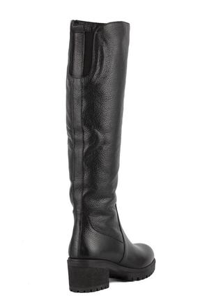 979цп женские сапоги attico,кожаные,на толстом каблуке,на каблуке,на низком ходу4