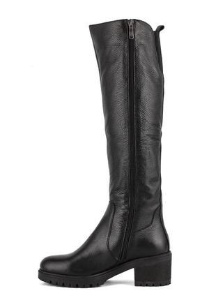979цп женские сапоги attico,кожаные,на толстом каблуке,на каблуке,на низком ходу3