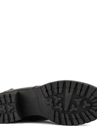 979цп женские сапоги attico,кожаные,на толстом каблуке,на каблуке,на низком ходу5