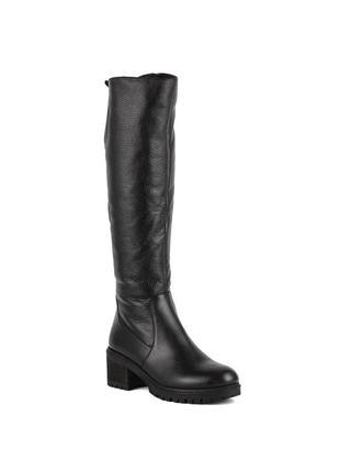 979цп женские сапоги attico,кожаные,на толстом каблуке,на каблуке,на низком ходу1